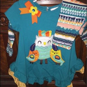 Size 2t owl outfit.